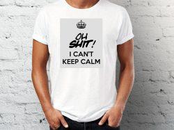 štampa na majicama sa natpisom keep calm