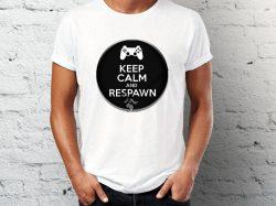 Štampa na majici sa natpisom keep calm