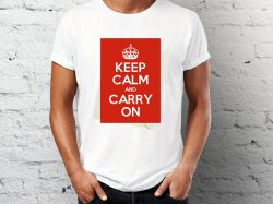 Majice sa natpisom keep calm and carry on