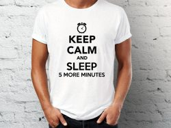 Majice sa natpisom keep calm and sleep