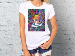 Štampa na majicama Junkie majica sa printom Alise iz zemlje čuda