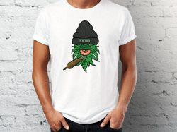 Štampa na majicama Junkie majica sa printommarihuane sa kapom